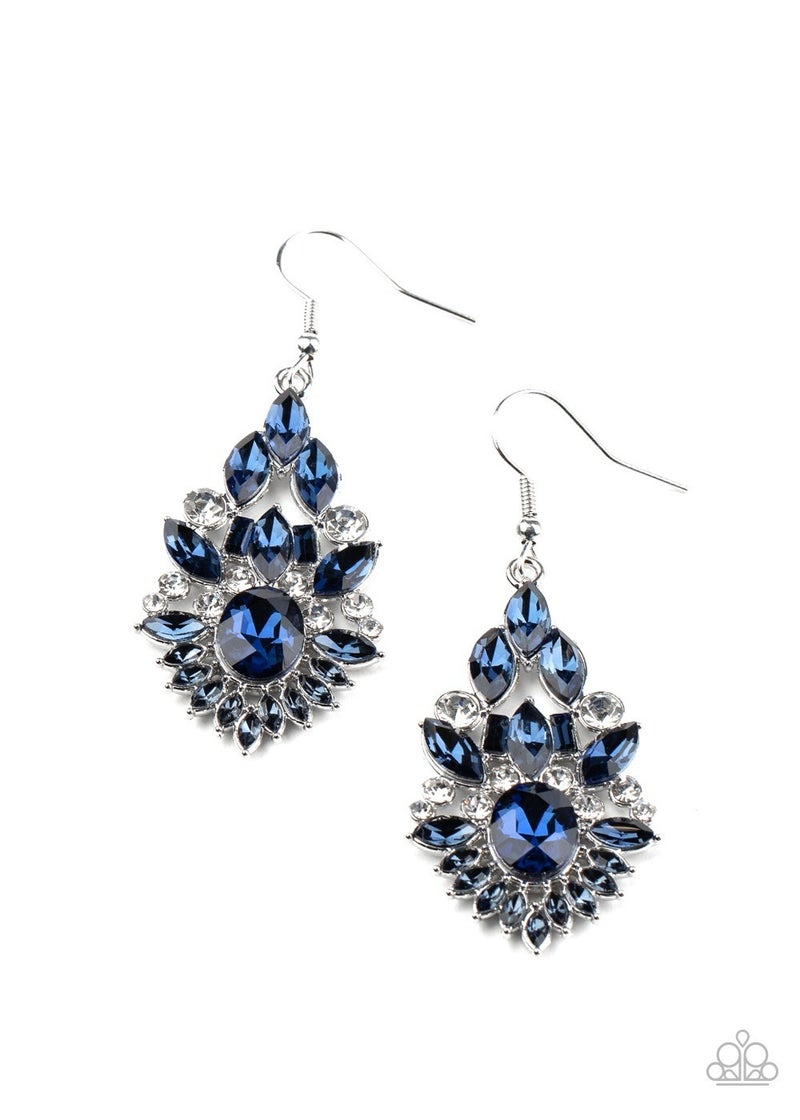 Ice Castle Couture - Blue Earring