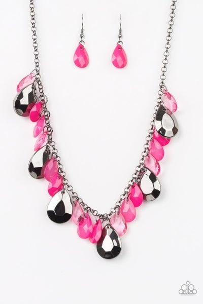 Hurricane Season - Pink Necklace