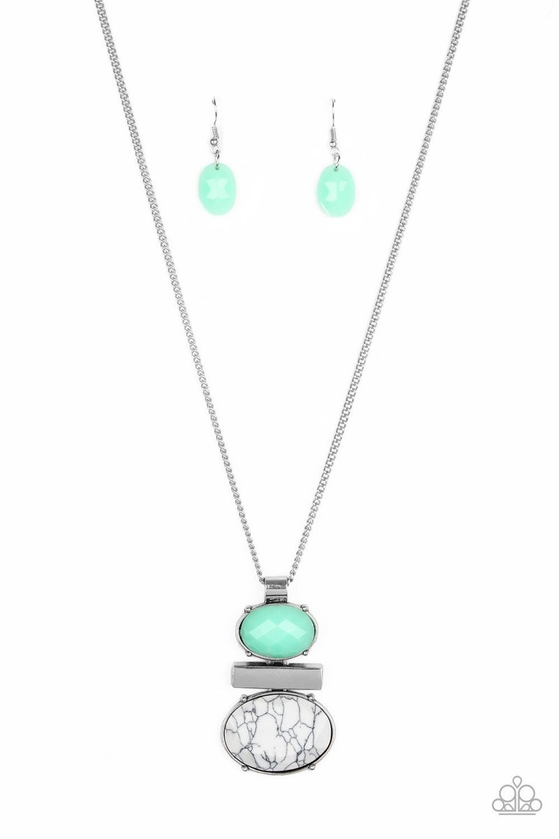 Finding Balance - Green Necklace