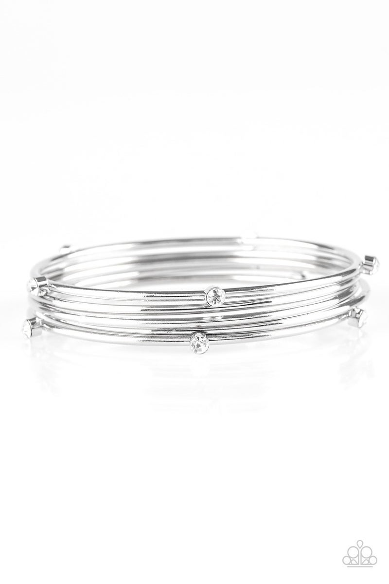Delicate Decadence - White Bracelet