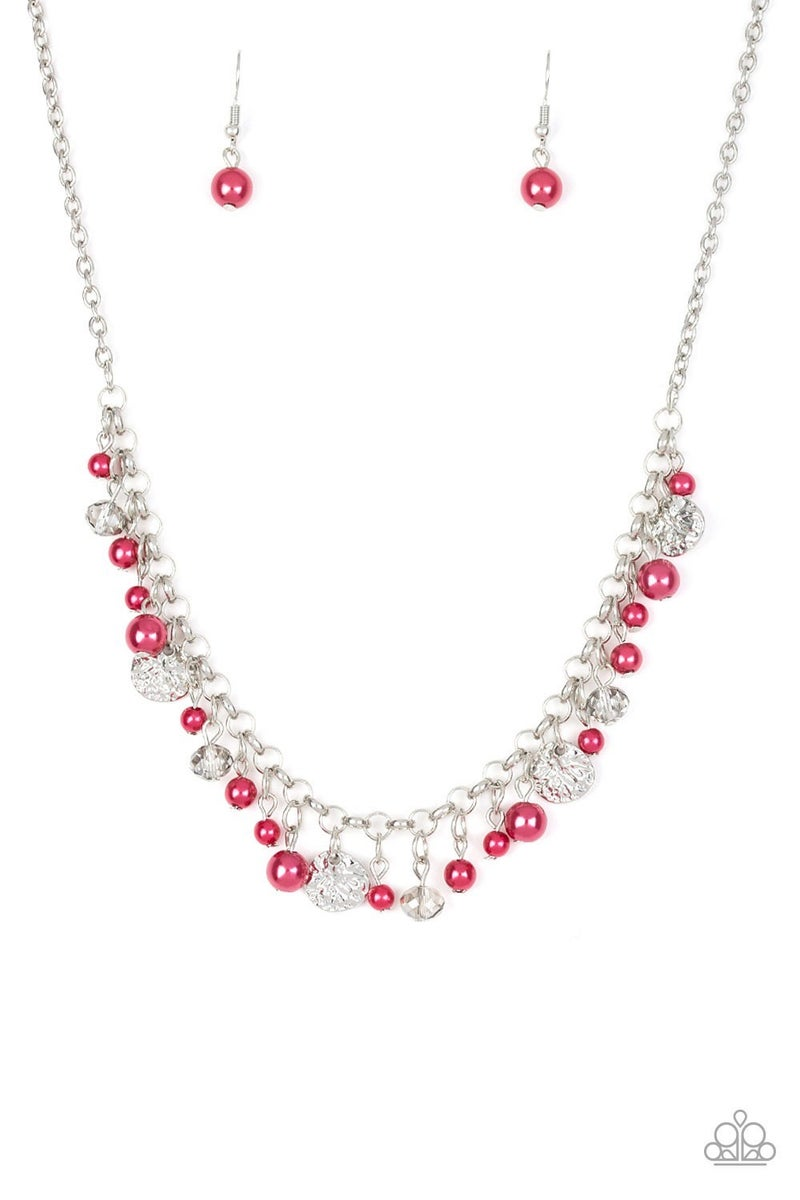 Coastal Cache - Red Necklace