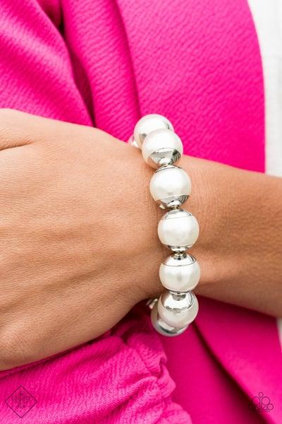 One Woman Show-STOPPER - White Bracelet