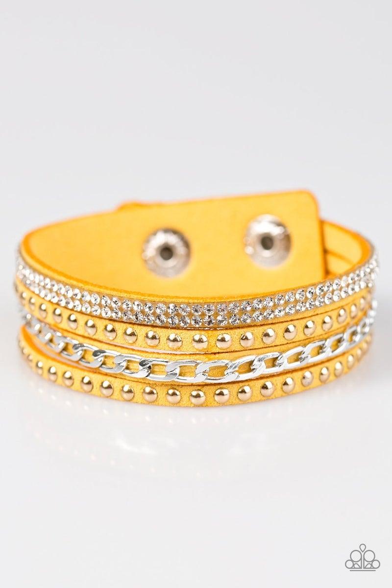 Hot GLAM! - Yellow Bracelet