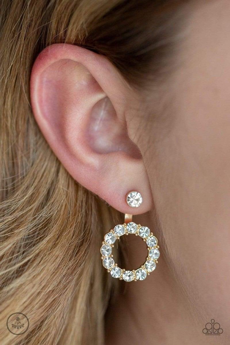 Diamond Halo - Gold Earrings