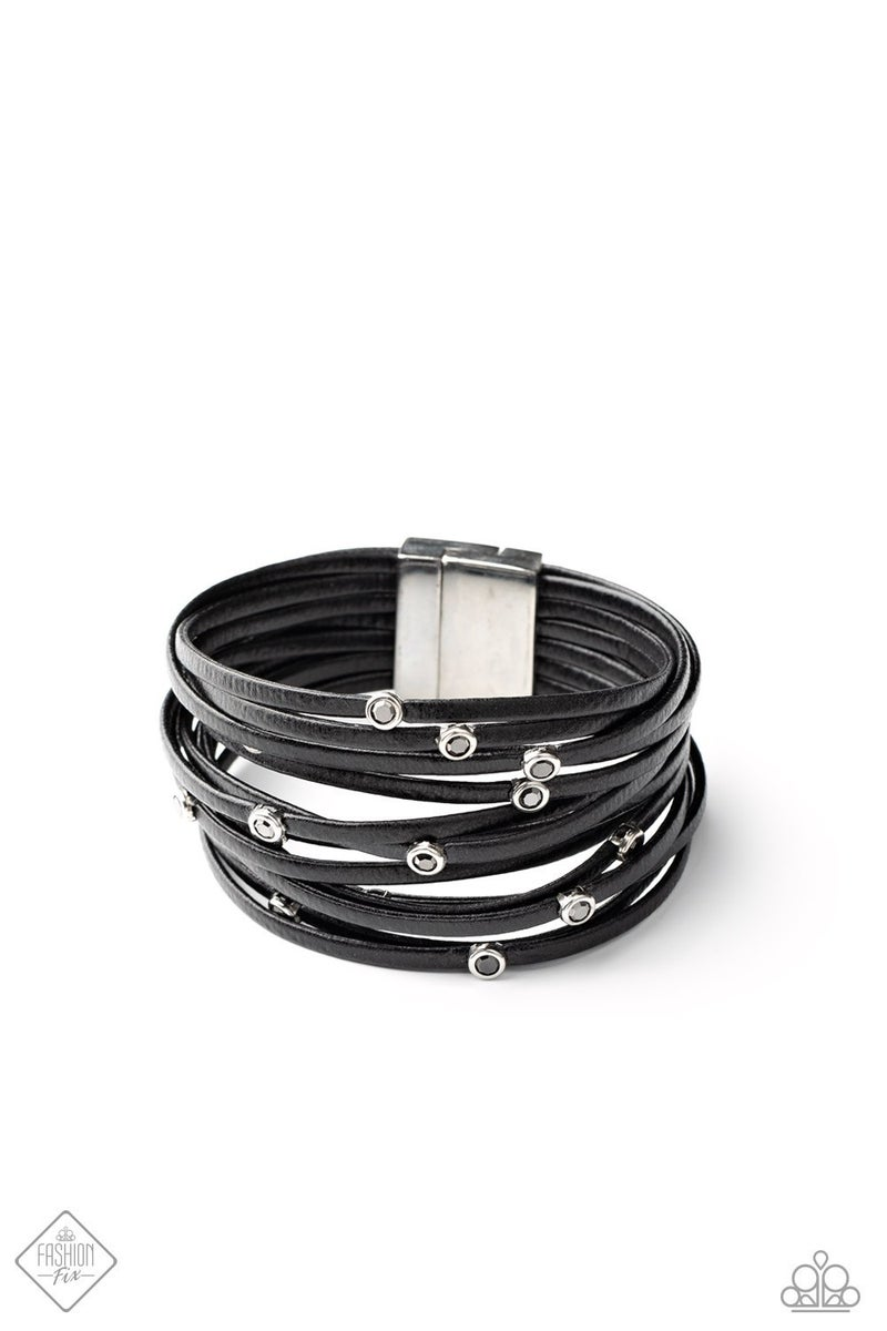 Fearlessly Layered - Black Bracelet