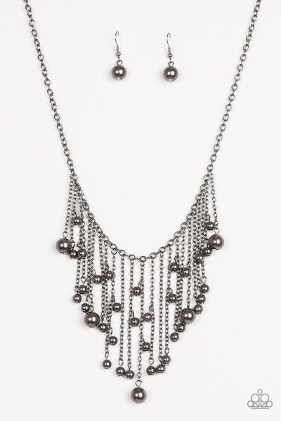 Catwalk Champ - Black Necklace
