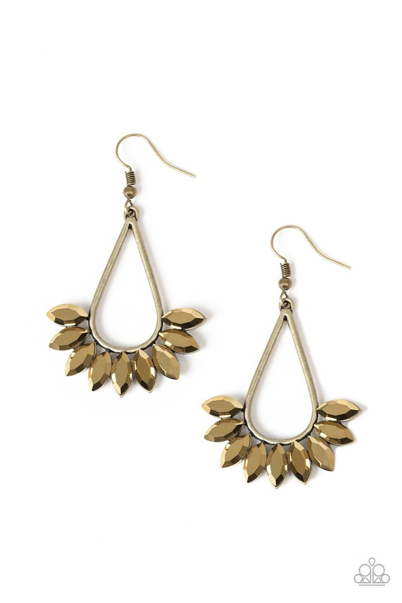 Be On Guard - Brass Earring