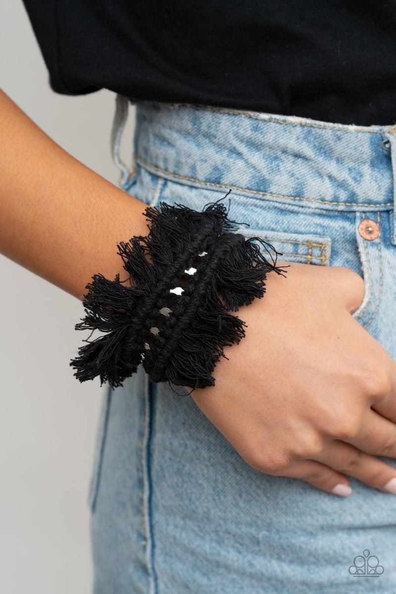 Homespun Hardware - Black Bracelet