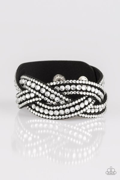 Bring On The Bling - Black Bracelet
