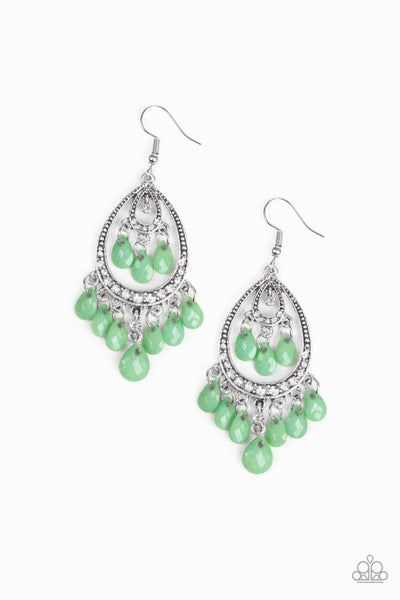 Gorgeously Genie - Green Earring