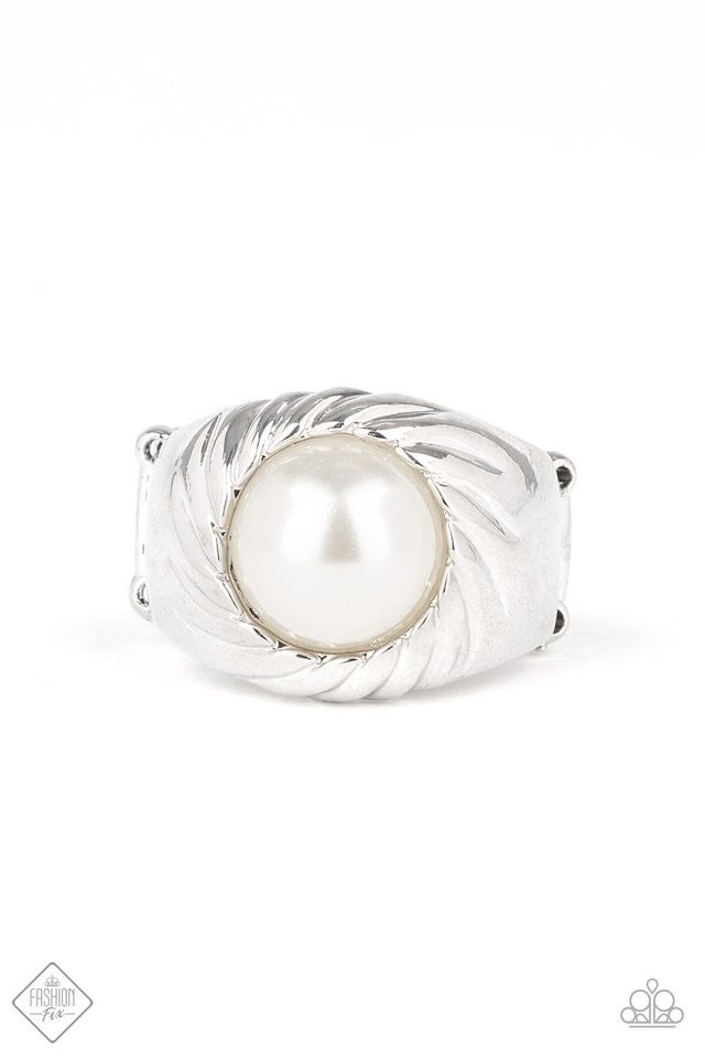 Wall Street Whimsical - White Ring