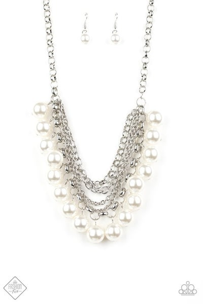 One-Way WALL STREET - White Necklace
