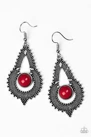 Zoomin Zumba - Red Earring