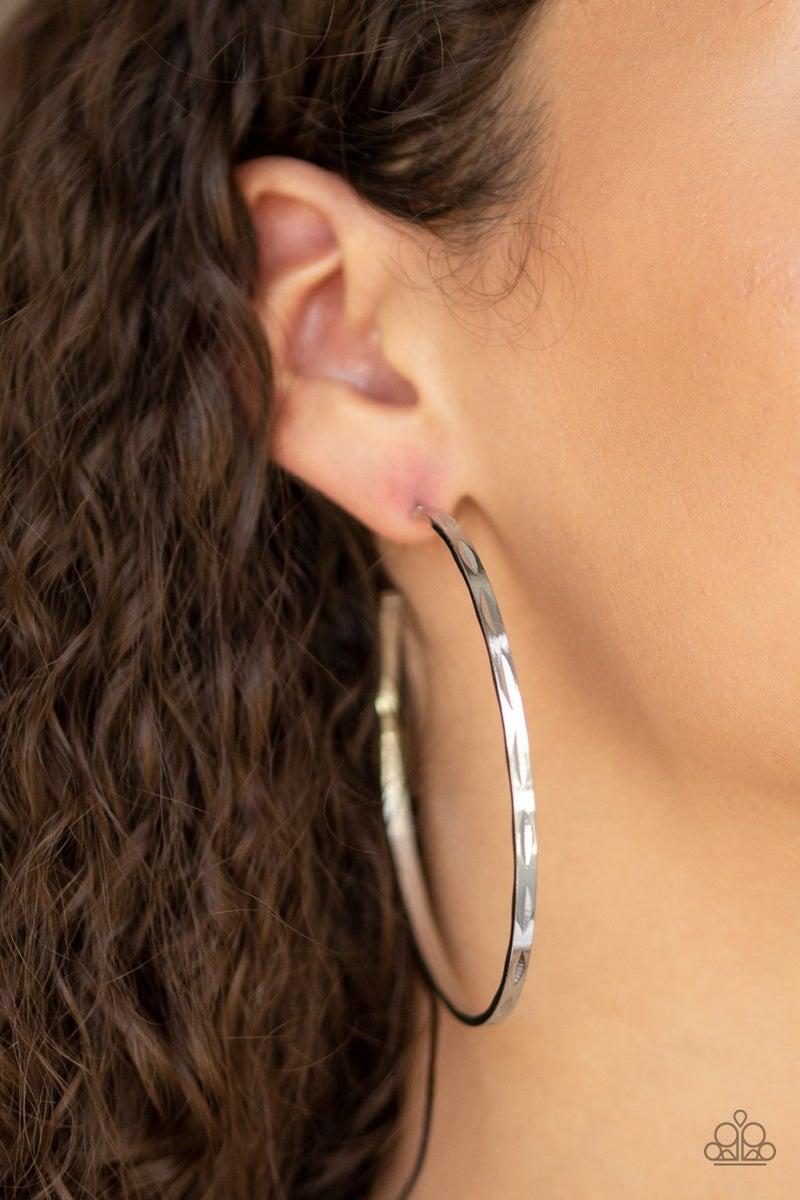 Full On Radical - Silver Earring