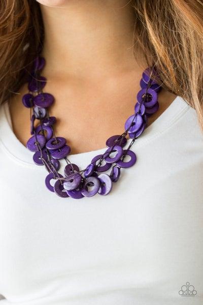 Wonderfully Walla Walla - Purple Necklace