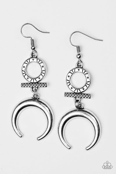 Majestically Moon Child - Silver Earring