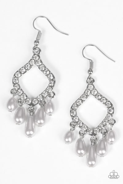 Divinely Diamond - Silver Earrings