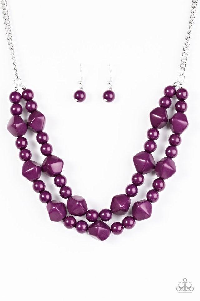 Galapagos Glam - Purple Necklace