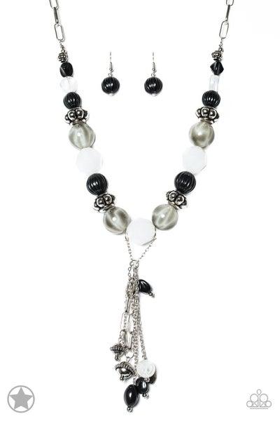 Break A Leg! - Black and White Necklace