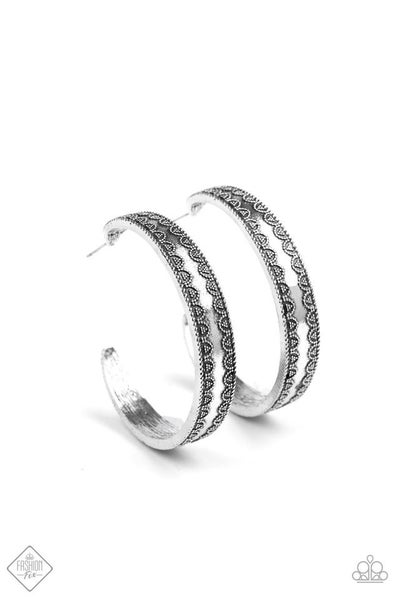Textured Treasure - silver earring