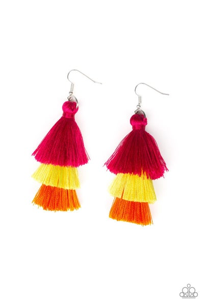 Hold On To Your Tassel! - Multi earring