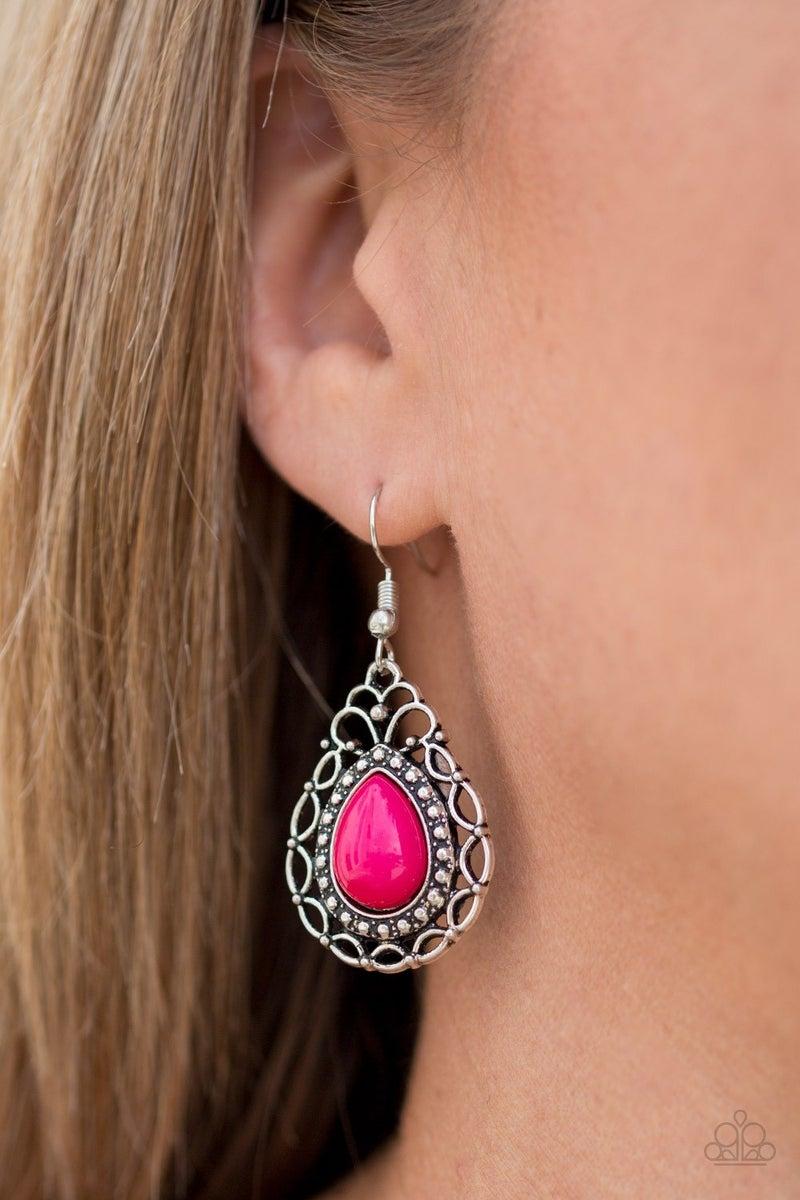 Flirty Finesse - Pink Earring
