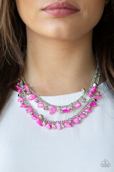 Pebble Pioneer - Pink Necklace