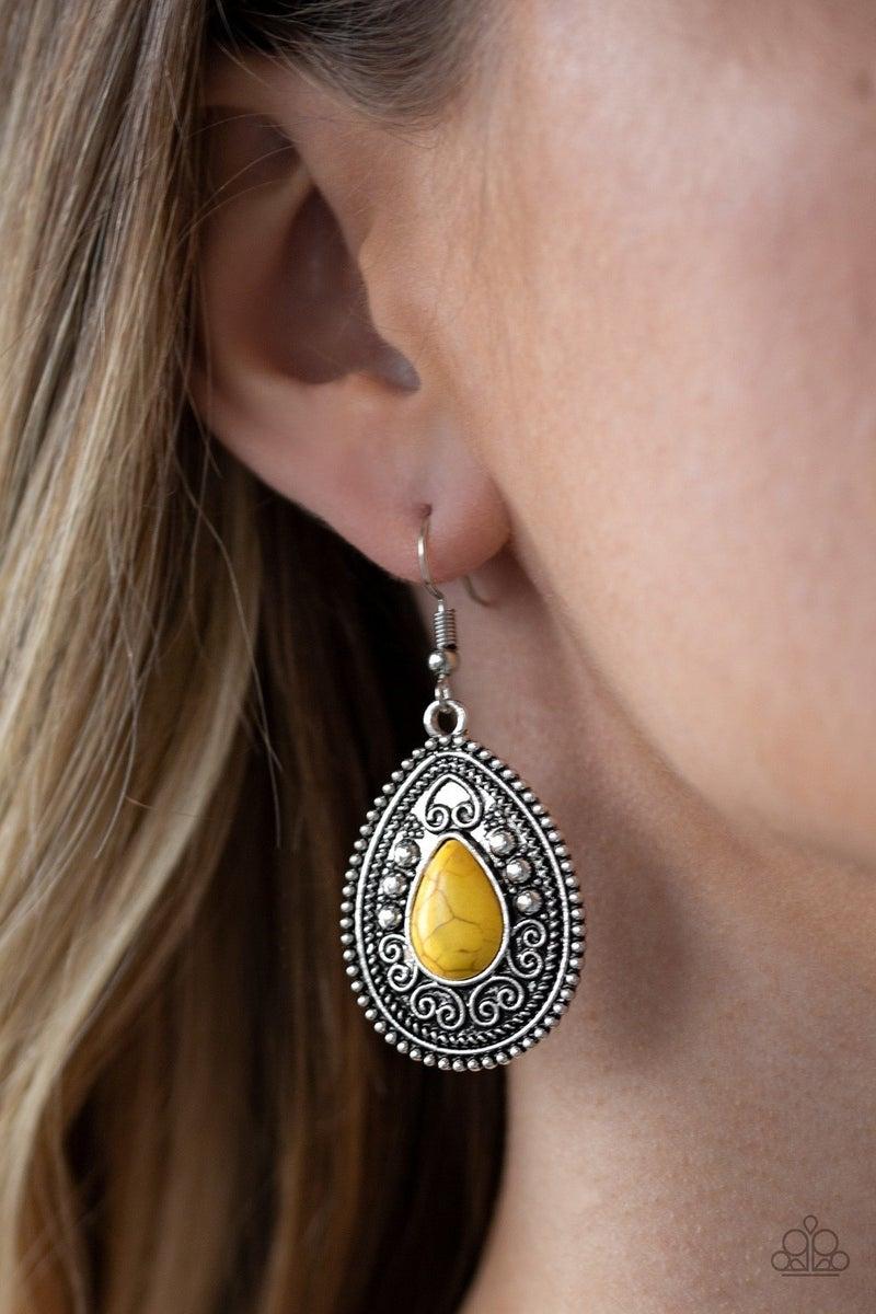 Desert Nirvana - Yellow Earring