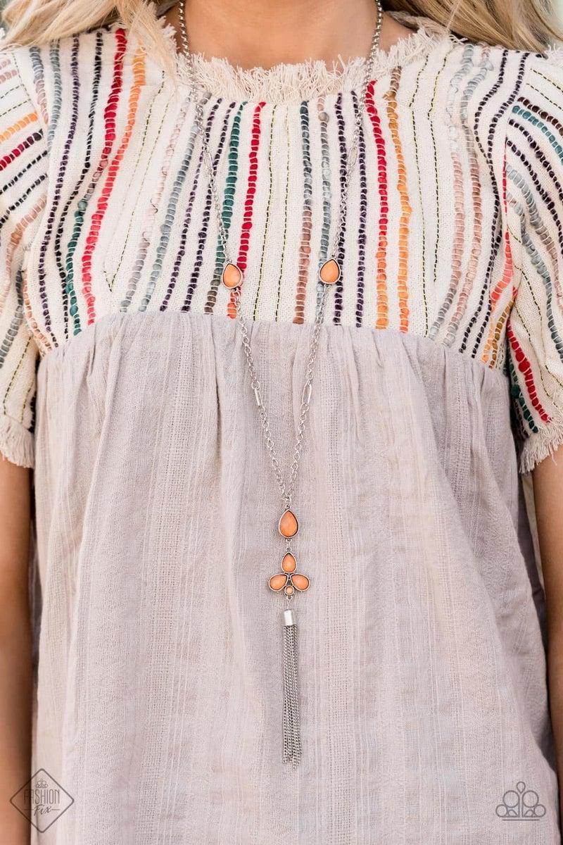 Eden Dew - Orange Necklace