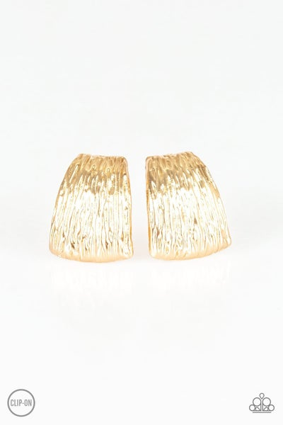 Superstar Shimmer - Gold Clip on Earring