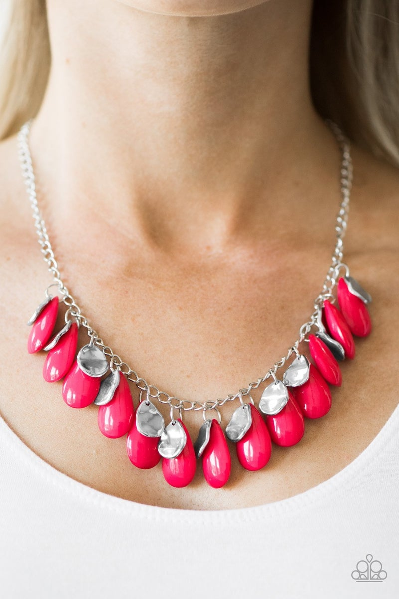 Tropical Storm - Pink Necklace