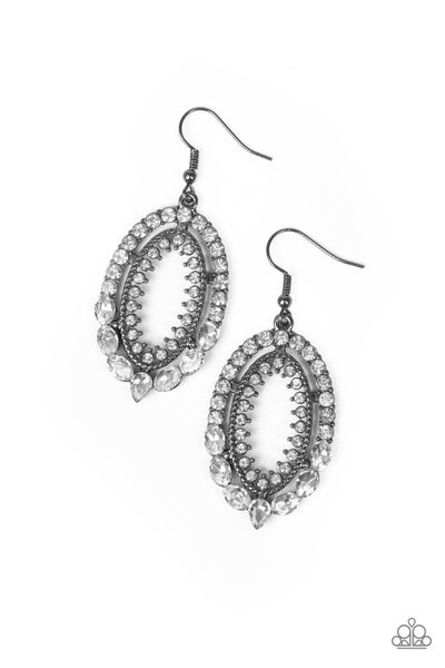 Trophy Shimmer - Black Earring