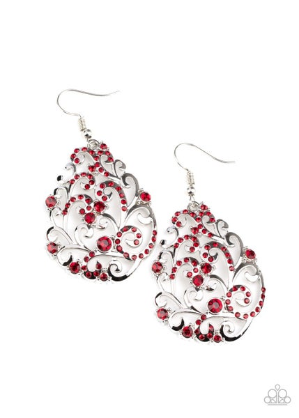 Winter Garden - Red Earring