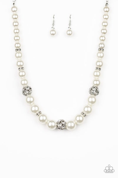 Rich Girl Refinement - White Necklace