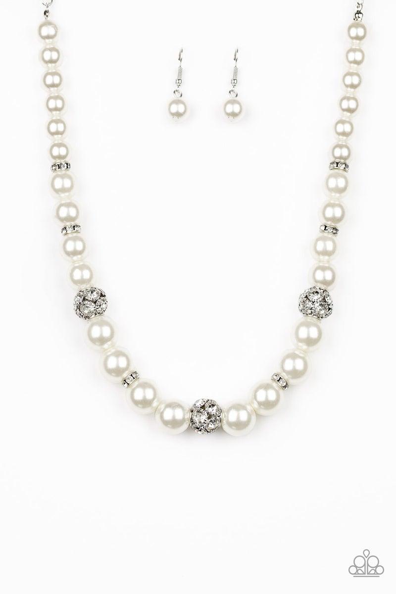 Rich Girl Refinement - White Necklace