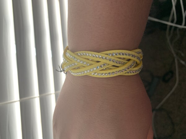 Vintage yellow Wrap Bracelet