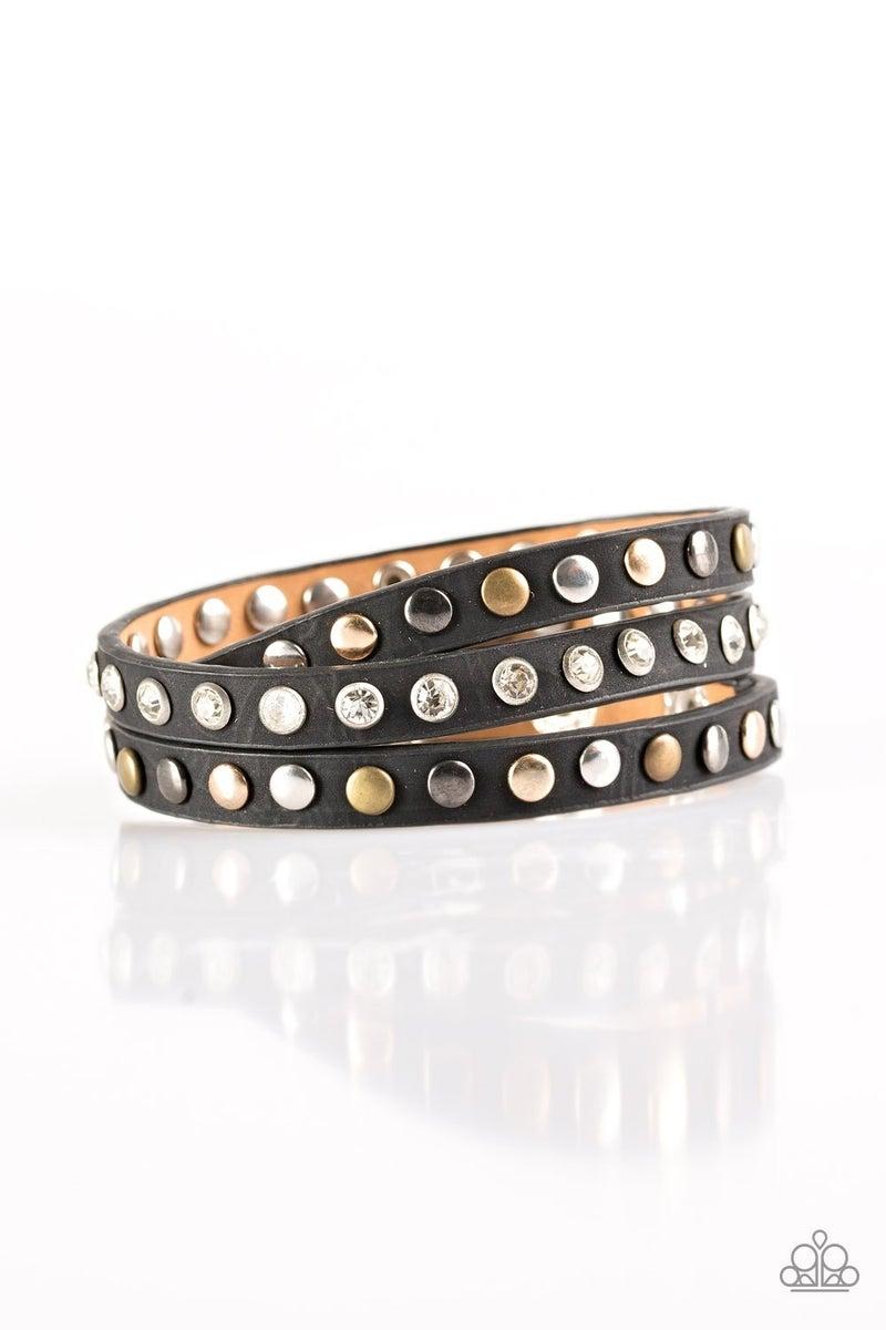 Lets Go For A CATWALK - Black Bracelet