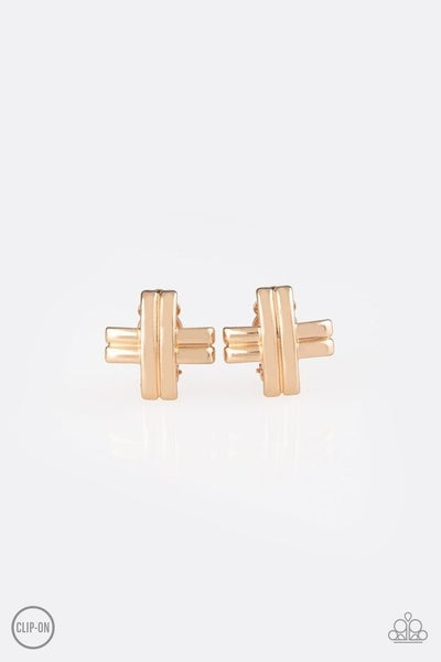 Couture Crossover - Gold Earrings