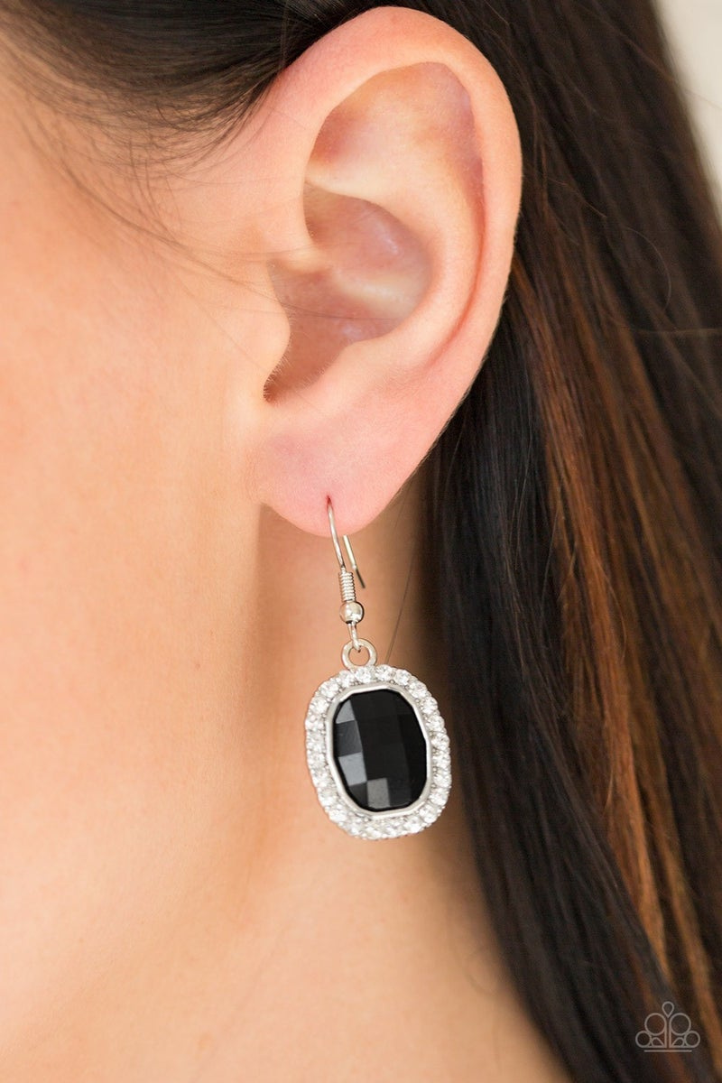 The Modern Monroe - Black Earring