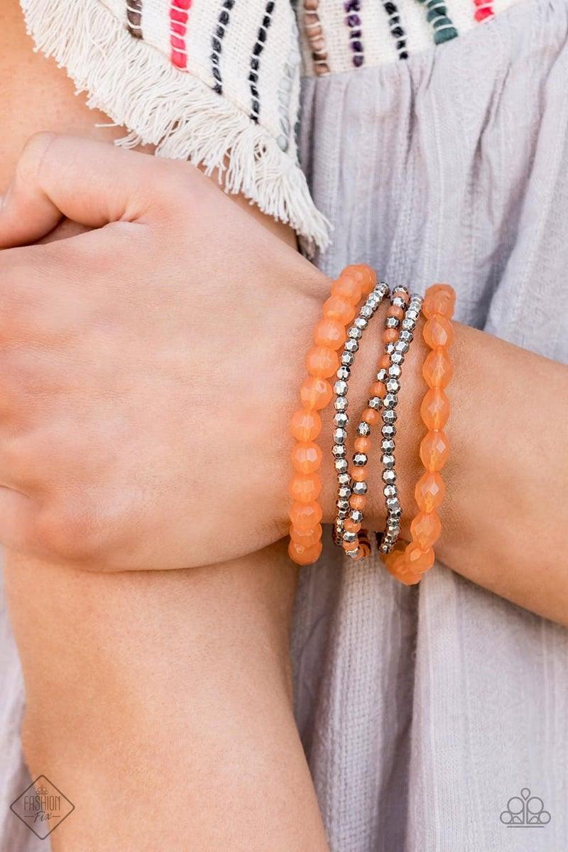 Sugary Sweet - Orange Bracelet