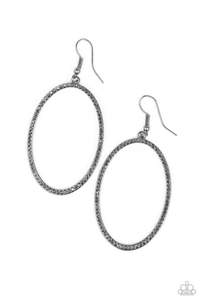 Dazzle On Demand - Black Earring