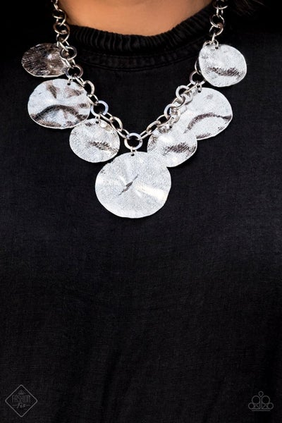 Barely Scratched The Surface - Silver Necklace