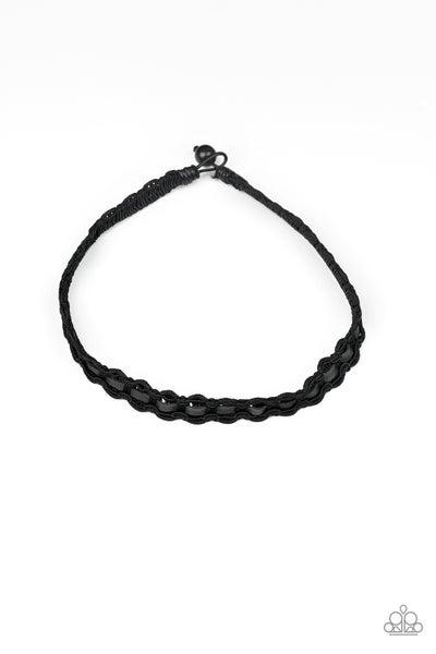 Track Tracker - Black Necklace