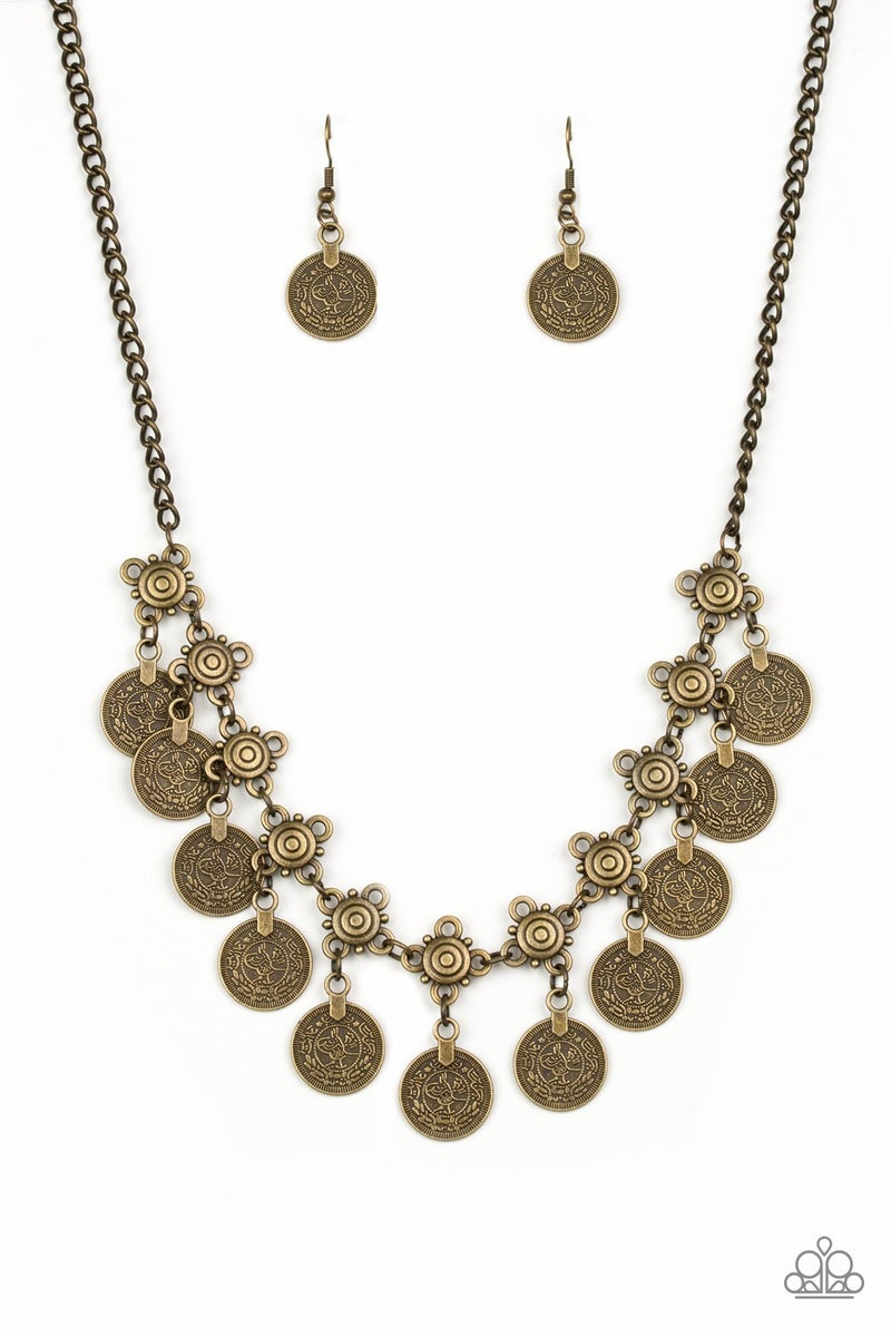 Walk The Plank - Brass Necklace