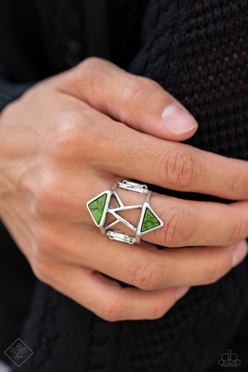 Making Me Edgy - Green Ring