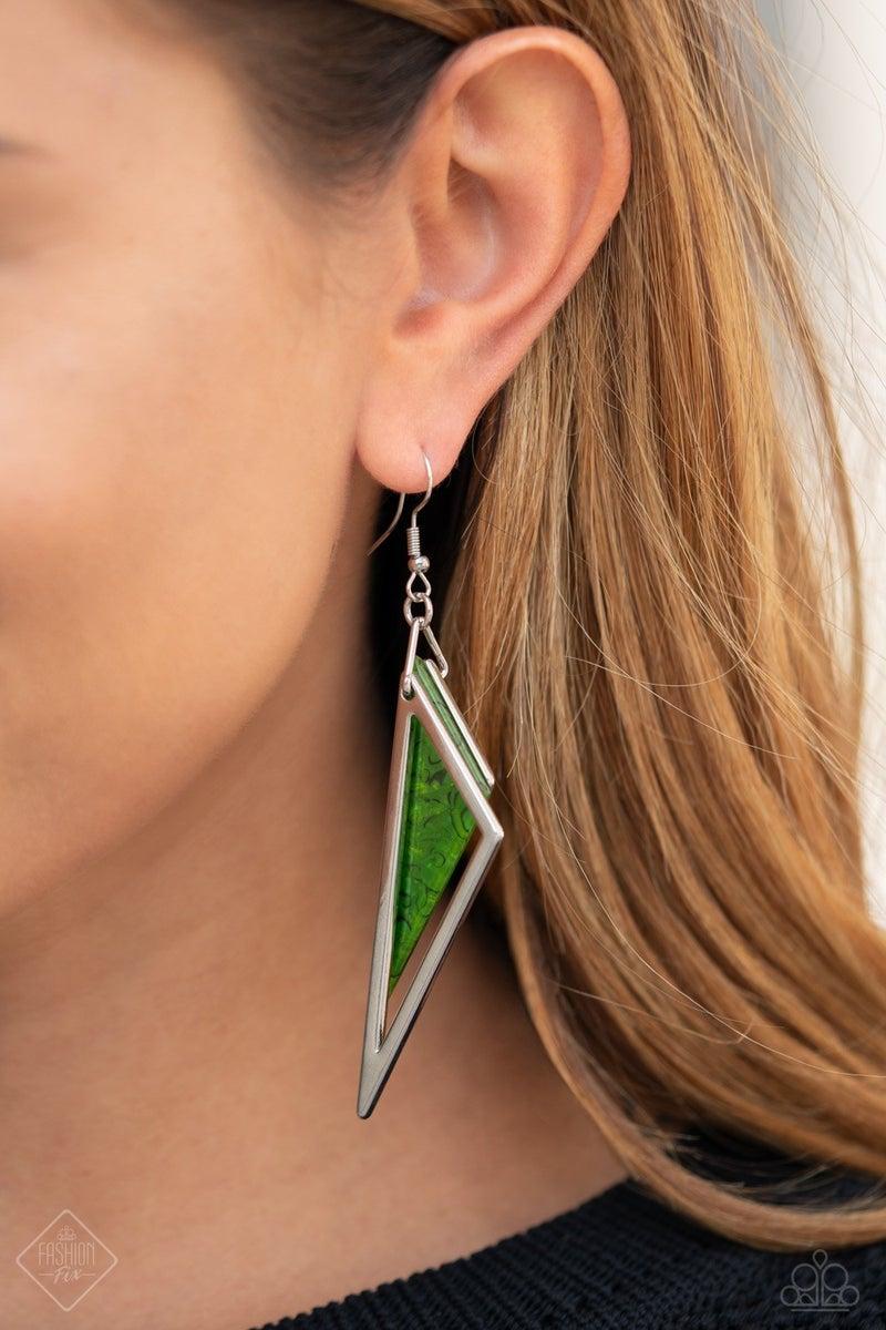 Evolutionary Edge - Green Earring