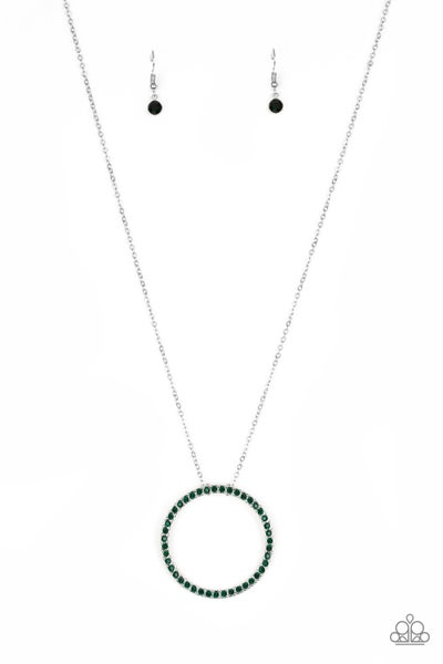 Center Of Attention - Green Necklace