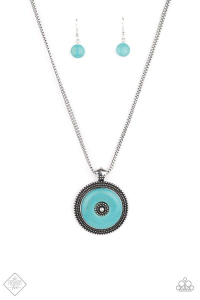 EPICENTER of Attention - Blue Necklace