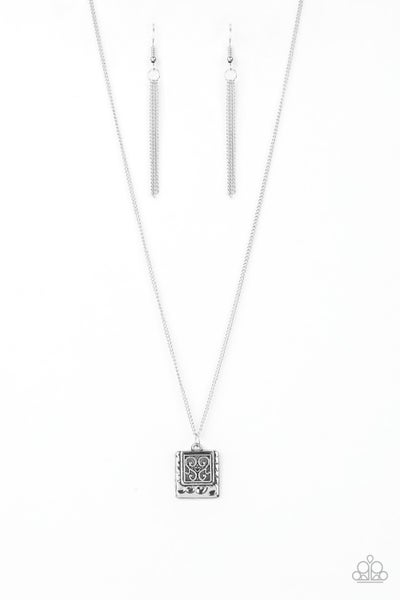 Back To Square One - Silver Necklace