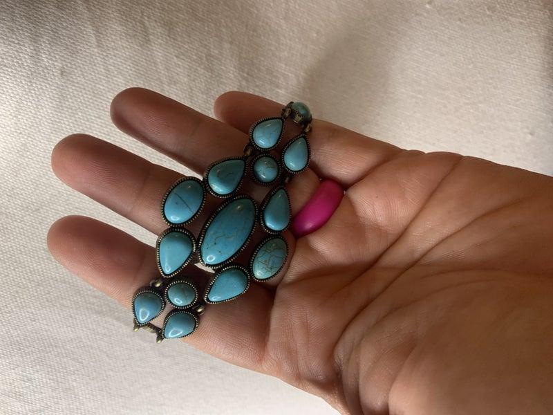 Blooming Prairies- blue bracelet